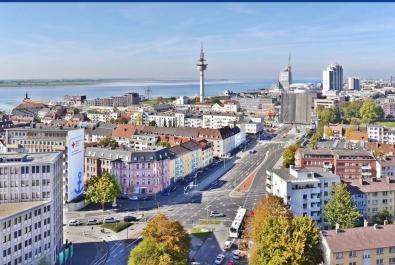 Bremerhaven-Geestemünde: Über den Dächern Bremerhavens